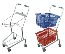 Economic double basket shopping cart